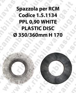 CEPILLO DE LAVADO PPL 0.6 WHITE para fregadora RCM codice 1.5.1134