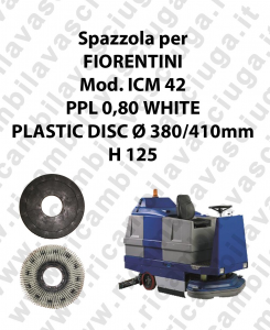 CEPILLO DE LAVADO PPL 0,80 WHITE para fregadora FIORENTINI modelo ICM 42