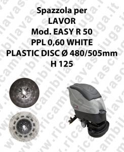 CEPILLO DE LAVADO PPL 0,60 WHITE para fregadora LAVOR modelo EASY R 50