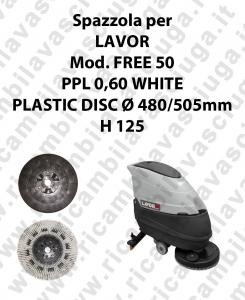 CEPILLO DE LAVADO PPL 0,60 WHITE para fregadora LAVOR modelo FREE 50