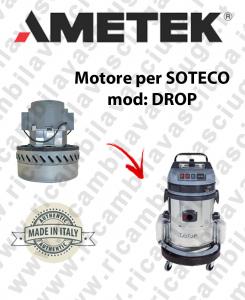 DROP Motore de aspiración AMETEK para aspiradora SOTECO