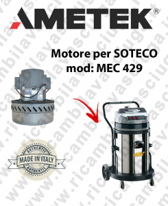 MEC 429 Motore de aspiración AMETEK para aspiradora SOTECO