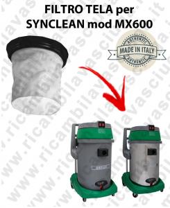 Filtro de tela para aspiradora SYNCLEAN modelo MX 600