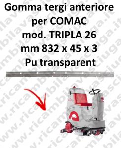 TRIPLA 26 goma de secado delantera para COMAC