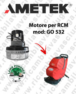 GO 532  motor de aspiración LAMB AMETEK fregadora RCM