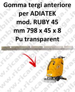 RUBY 45 goma de secado fregadora delantera para ADIATEK