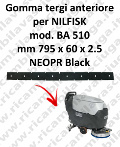 BA 510 goma de secado delantera para fregadora Nilfisk