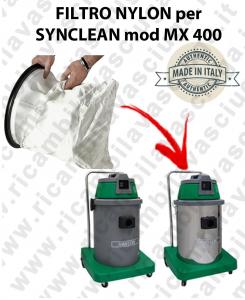 SACCO Filtro de Nylon cod: 3001220 para aspiradora MAXICLEAN Model MX400 BY SYNCLEAN