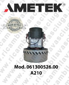 motor de aspiración AMETEK ITALIA 061300526.00 A 210 para aspiradora e aspiraliquidi