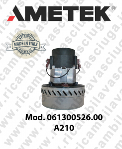 Motore de aspiracion AMETEK ITALIA 061300526.00 A 210 para aspiradora e aspiraliquidi