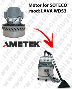 LAVA type WDS3 motor de aspiración AMETEK para aspiradora SOTECO