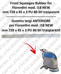 I18 NEW goma de secado delantera para fregadora  FIORENTINI