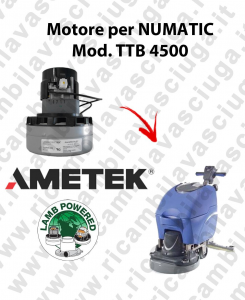 TTB 4500 motor de aspiración AMETEK fregadora NUMATIC