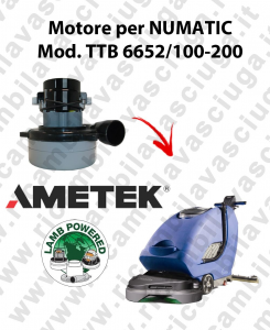 TTB 6652/100-200 motor de aspiración AMETEK fregadora NUMATIC