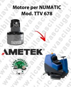 TTV 678 motor de aspiración AMETEK fregadora NUMATIC