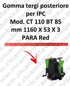 goma de secado trasero para fregadora IPC Model CT 110 BT 85