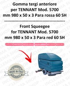 5700 goma de secado delantera Para rojo para fregadora TENNANT - squeegee 700 mm