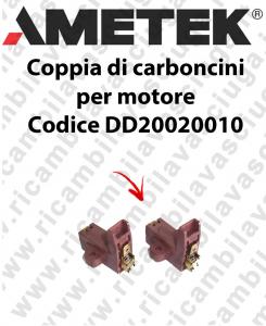 COPPIA di Carboncini motor de aspiración para motore Ametek Cod: DD20020010