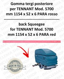 5700 goma de secado trasero PARA rojo para fregadora TENNANT - squeegee 800 mm