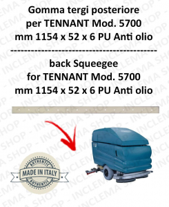 5700 goma de secado trasero PU anti olio para fregadora TENNANT - squeegee 800 mm