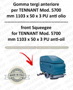 5700 goma de secado delantera PU anti olio para fregadora TENNANT - squeegee 800 mm