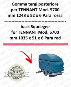 5700 goma de secado trasero PARA rojo para fregadora TENNANT - squeegee 900 mm