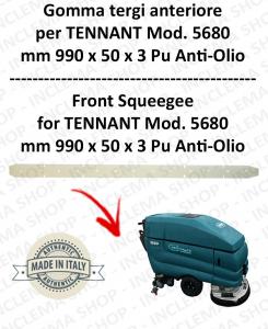5680 goma de secado delantera PU anti olio para fregadora TENNANT - squeegee 700 mm