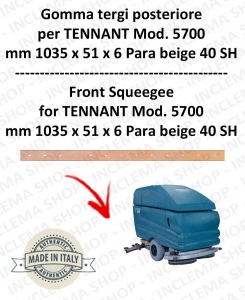 5700 goma de secado trasero Para beige para fregadora TENNANT - squeegee 700 mm