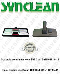 Spazzola combinata nera ø32 para aspiradora - SYNCLEAN COD: SYN104730415
