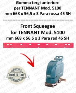 5100 goma de secado delantera PARA rojo para fregadora TENNANT 45 SH