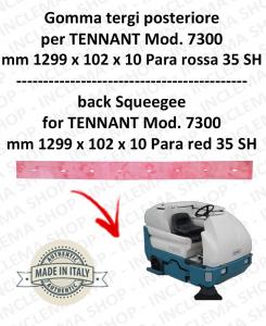 7300 goma de secado trasero PARA rojo para fregadora TENNANT - 1000 mm