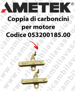 COPPIA di Carboncini Motore aspirazione per motore Ametek 064200046.00 Cod: 053200185.00-2