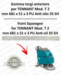 T 2 goma de secado delantera PU Anti olio 35 SH para fregadora TENNANT