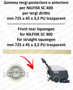 SC 400 goma de secado trasero delantera para tergipavimento diritto Nilfisk