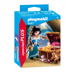 PLAYMOBIL PIRATESSA CON TESORO 9087