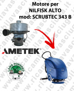 SCRUBTEC 343 B Motore de aspiración LAMB AMETEK para fregadora NILFISK