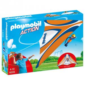 PLAYMOBI DELTAPLANO ARANCIO CON PILOTA 9205