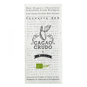 TABLA DE CHOCOLATE DE CRUDO BIOLÓGICO FONDENTE 80% - 50 g