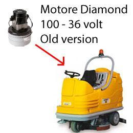 DIAMOND 100 36 volt OLD Version Saugmotor AMETEK für scheuersaugmaschinen Adiatek