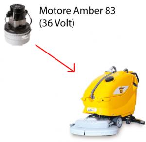 AMBER 83 36 volt Saugmotor AMETEK für scheuersaugmaschinen Adiatek