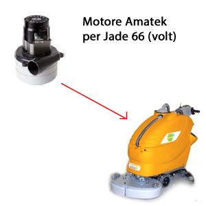 JADE 66 24 volt Saugmotor AMETEK für scheuersaugmaschinen Adiatek