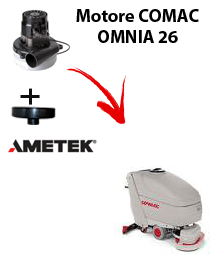 OMNIA 26 Saugmotor AMETEK für scheuersaugmaschinen Comac