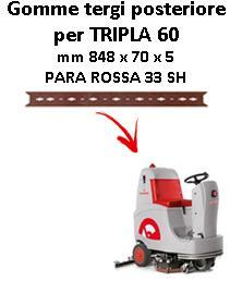 TRIPLA 60 Hinten Sauglippen für scheuersaugmaschinen COMAC