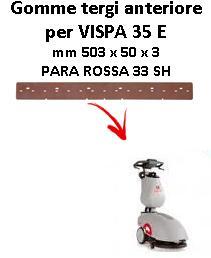 VISPA 35 ünd Vorne Sauglippen für scheuersaugmaschinen COMAC