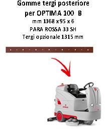 OPTIMA 100  B Hinten Sauglippen für scheuersaugmaschinen COMAC
