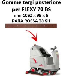 FLEXY 70 BS Hinten sauglippen für scheuersaugmaschinen COMAC
