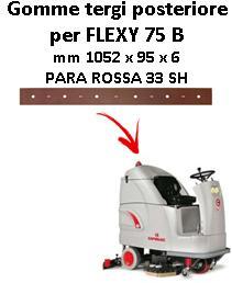 FLEXY 75 B Hinten sauglippen für scheuersaugmaschinen COMAC