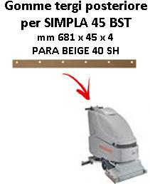 SIMPLA 45 BST Hinten sauglippen für scheuersaugmaschinen COMAC
