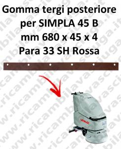 SIMPLA 45 B Hinten sauglippen für scheuersaugmaschinen COMAC