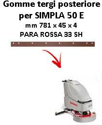 SIMPLA 50 ünd Hinten sauglippen für scheuersaugmaschinen COMAC